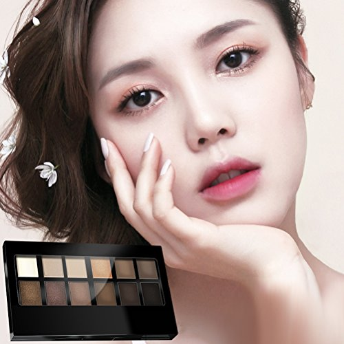 Frcolor 12 Colors Natural Nudes Eye Shadow Colour Palette Eyeshadow Set Combination Cosmetic Pallet