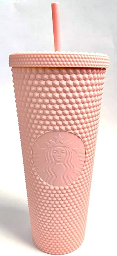 Amazon.| Starbucks 2020 Matte Light Pink Studded 24 oz