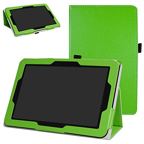 Verizon Ellipsis 10 Case,Mama Mouth PU Leather Folio 2-Folding Stand Cover for 10.1 Verizon Ellipsis 10 Android Tablet,Green