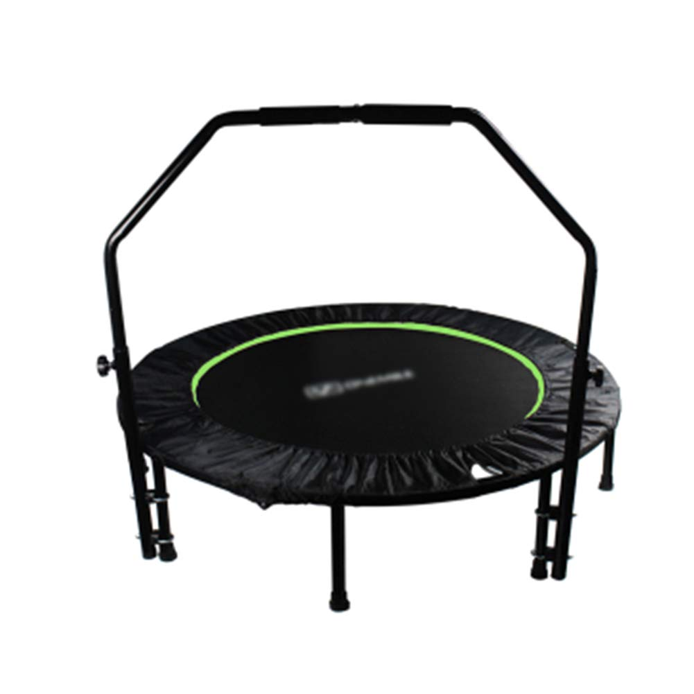 Trampoline 48 Zoll mit verstellbarem Handlauf, für Indoor Garden Workout Cardio Training für Kinder Erwachsene Max Load 440 £