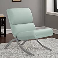 Contemporary/Modern Unique Faux,Bonded Leather Foam Chair (Aqua)
