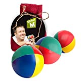 "3 High Quality Juggling Balls CE Tested ""The Ultimate Juggling Set"" with an Online Video in a Burlap Bag - ""by Mister M"" (Red, 3 Balls)"