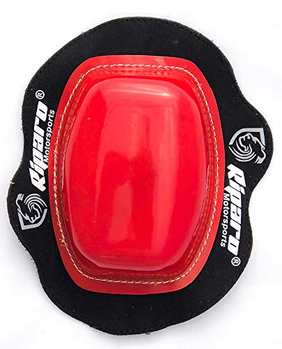 Riparo Motorcycle Racing Knee Puck Protector Sliders (Red)
