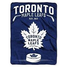 "Toronto Maple Leafs Royal Plush Raschel 60"" x 80"" Blanket Throw"