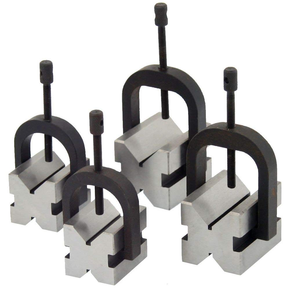 Anytime Tools 8 pc V BLOCK CLAMP DOUBLE SIDED 90° MACHINIST TOOL