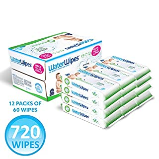 WaterWipes Textured, Sensitive, Unscented Baby and Toddler Soapberry Unscented Wipes, 60 Count,12 Packs (720 Wipes)