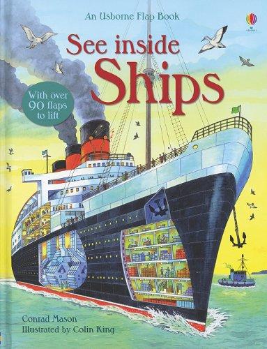 See Inside Ships (An Usborne Flap Book) by Usborne Pub Ltd (Image #1)