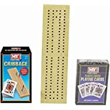 Traditional Wooden Cribbage Board Game With Cards