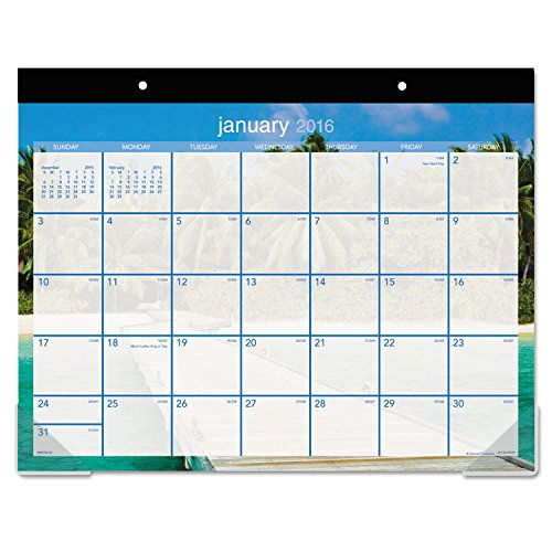 "AT-A-GLANCE Desk Pad Calendar 2017, Monthly, 21-3/4 x 17"", Tropical Escape (DMDTE2-32)"