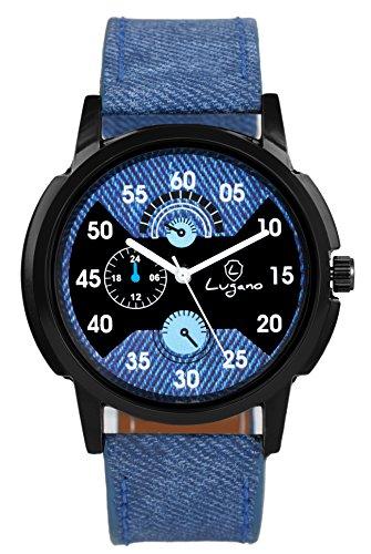 Lugano Stylish Blue Dial  amp; Blue Strap Analog Wrist Watch for Women/Girl  LG 1068