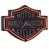 Harley-Davidson Etched Bar & Shield Shaped Neon Clock (Kitchen)