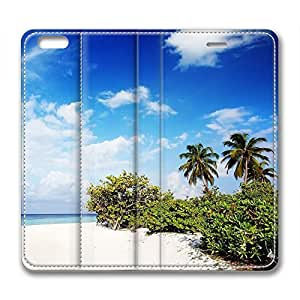 The Maldives Scenery Customized Design Leather Iphone 6 Plus Case Blue Sky
