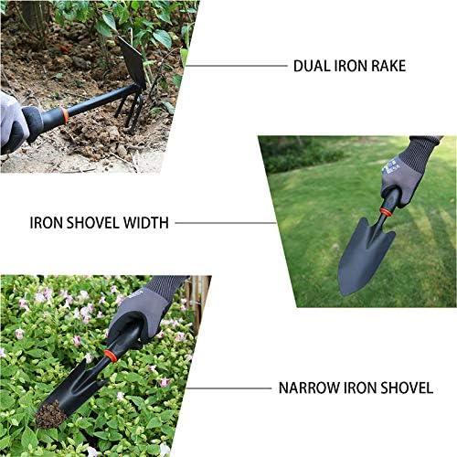 4 Pieces Garden Weeding Tools Planting Flowers Transplanting Shovel Loose Soil Rooter Multi-Function Fertilization Hoe Children Potted Rake