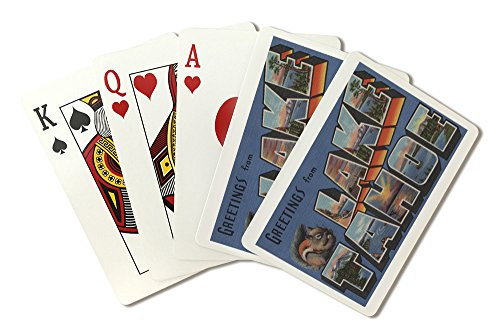 Lake Tahoe, California - Large Letter Scenes (Playing Card Deck - 52 Card Poker Size with Jokers)