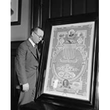 1923 May 1. photograph of Asst. P.M.G. Glover & stamp exhibit, 5/1/23 Vintage e7