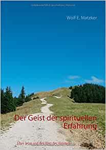 der geist der spirituellen erfahrung german edition wolf e matzker 9783842342132 amazon. Black Bedroom Furniture Sets. Home Design Ideas