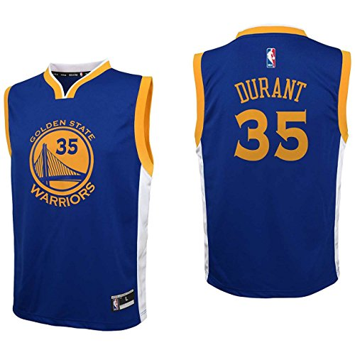 OuterStuff NBA Golden State Warriors Kevin Durant Youth Boys Replica Player Road Jersey, Small (8), (Replica Kids Basketball)