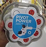 Quirky PPVP1-RD01 Pivot Power 6 Outlet - 4 FT Cord, Flexible Surge Protector Power Strip White/Red