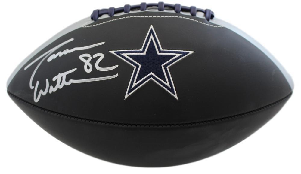 Jason Witten Autographed/Signed Dallas Cowboys Black Logo Football JSA