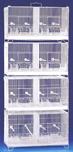 Combo 4 Stack And Lock Double Breeder Bird Breeding Cages