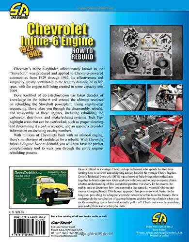 Chevrolet Inline-6 Engine 1929-1962: How to Rebuild: Deve Krehbiel