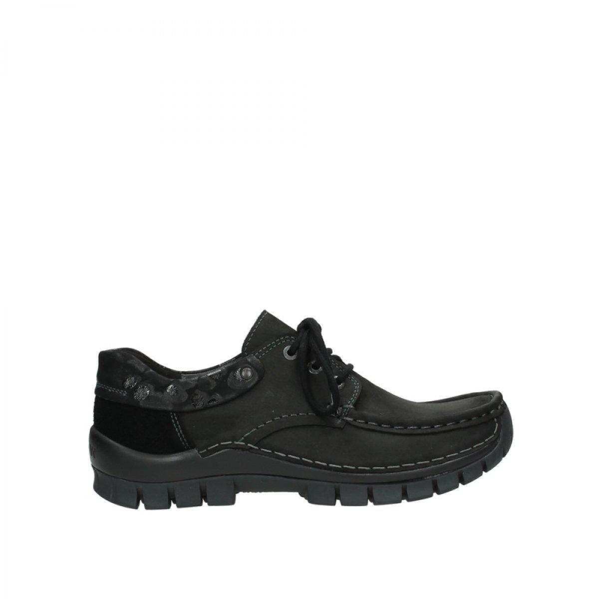 Wolky Womens Rio Leather Sandals 44 EU|59000 Schwarz Leder