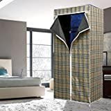 Gtc Single Layer Styles Fancy & Portable Fold-Able Closet Wardrobe Cabinet With Shelves 105*45*175 Cm
