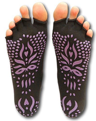 LovesAll High Grip Non Slip Toeless Yoga Socks, Multiple Colors And Sizes