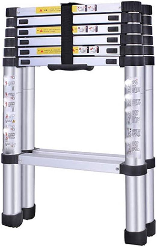 bxzcb Estante-Escalera-Soporte Escalera telescópica de doble cara de 2 + 2 metros - Escalera equilátera de aleación de aluminio, C Ayuda para alcanzar la altura deseada: Amazon.es: Bricolaje y herramientas