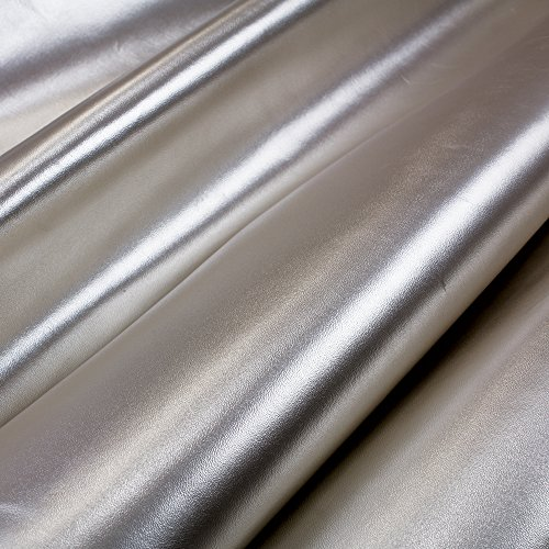 Metallic Embossed Leather (Springfield Leather Company's Metallic Cow Leather (by The Square Foot) (Silver))