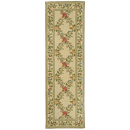 Safavieh Chelsea Collection HK60A Hand-Hooked Ivory Premium Wool Area Rug (2'6