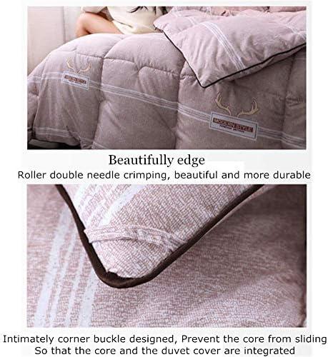 ZTBXQ Accueil Ustensiles Couette Coton Hiver Couette Chaud Noyau Coton Lavé Étudiant Épaissi Couette Hiver Couette Hôtel Printemps Automne Quilt Core (Rose 220 * 240cm 4kg)