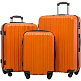 Merax Hylas 3 Piece Luggage Set Lightweight Spinner Suitcase