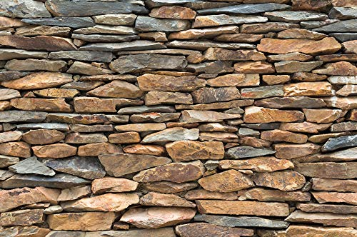 (GREAT ART Wallpaper Schiefer Stonewal – Wall Picture Decoration 3D Optic Slate Stones Wall Mural Pattern Tapestry Rocks Rustic (82.7x55 Inch))