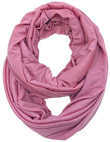 KMystic Large Solid Color Infinity Loop Jersey Scarf (Rose)