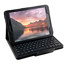 Galaxy Tab S3 9.7 Keyboard case, Pasonomi Ultra-Thin Folding PU Leather Folio Case Cover & Detachable Wireless Bluetooth Keyboard Cover Case for Samsung Galaxy Tab S3 9.7 SM-T820/SM-825 Tablet (Black)