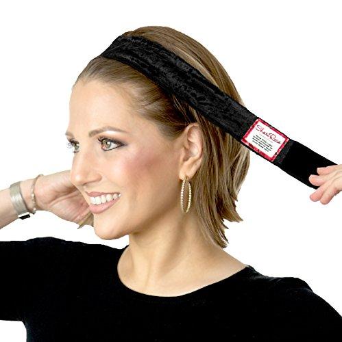 ShariRose Non-Slip Head-Band Wig Grip Adjustable Headband for Under headscarves (Black Velvet)