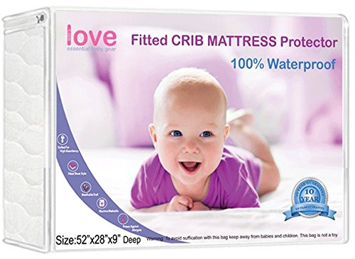 Lilly'sLove Waterproof Crib Mattress Pad – REGULAR WASHING, LEAKPROOF Easily removed with our sewn-in elastic, faster cleanups.
