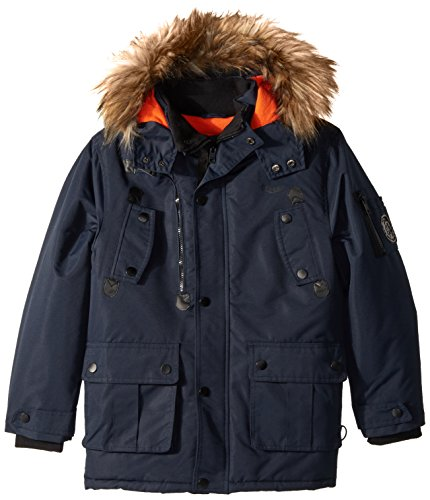 Diesel Toddler Boys' Outerwear Jacket (More Styles Available), Faux Fur Parka-DS68-Dark Blue, 3T