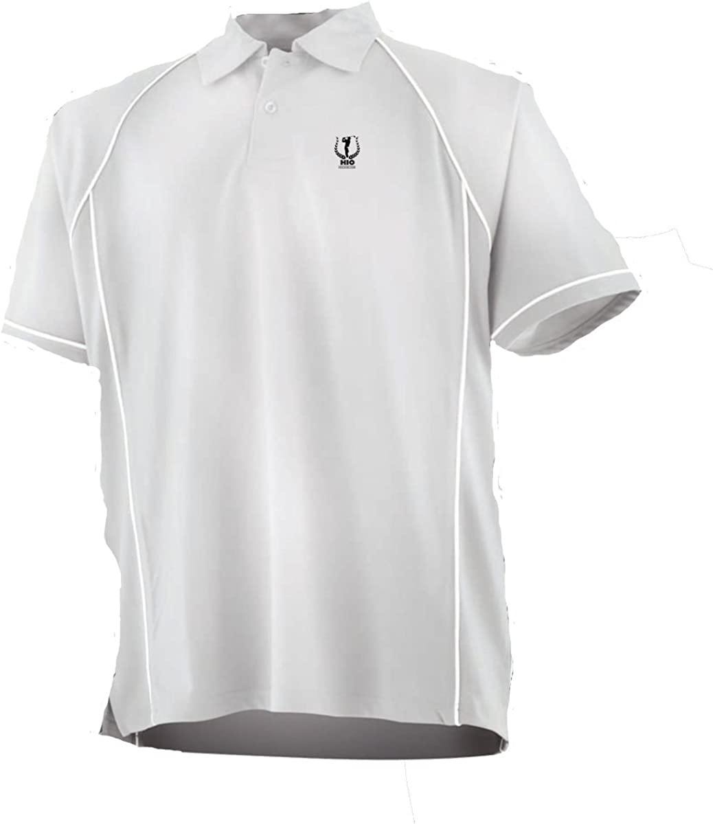 HIO HOLE IN ONE Polo Homme Bogey Blanc 100% Polyester Cool Plus ...