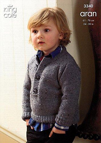 489a88de7 King Cole Children s Coat   Sweater Fashion Aran Knitting Pattern ...