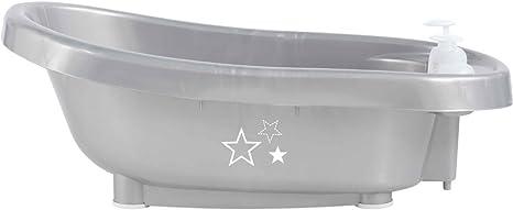 B/éb/é-Jou Termobath Click Ba/ñera con dosificadores y term/ómetro incorporado dise/ño silver star plata