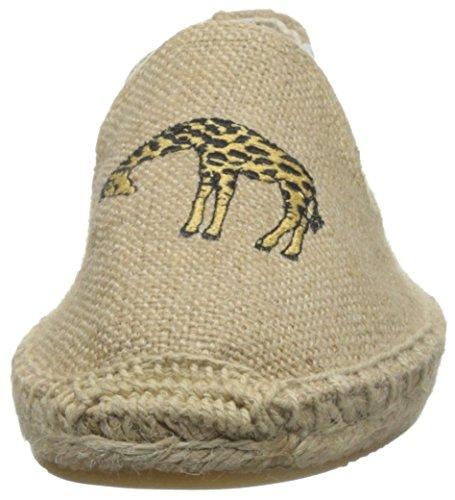 Soludos Femmes Girafe Fumer Pantoufle Plat Naturel