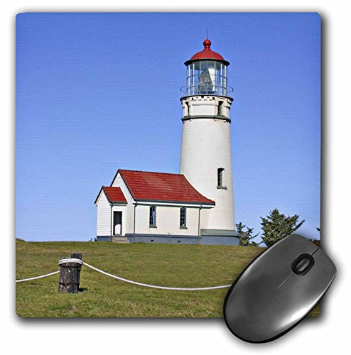 3dRose LLC 8 x 8 x 0.25 Inches Mouse Pad, Lighthouse, Cape Blanco SP, Port Orford Oregon, Mark Gibson (mp_93902_1) (Historic Gibson Custom)