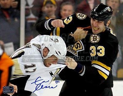 e208db11f Zdeno Chara Boston Bruins Signed Autographed Fight vs Penguins Mike Rupp  16x20