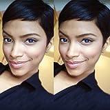 (US) VRZ Human Hair Wigs Short Pixie Cut Wig for Women Black Color 1B (PX9001)