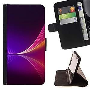 Momo Phone Case / Flip Funda de Cuero Case Cover - NEON PURPLE SPLASH - Samsung Galaxy S6 EDGE
