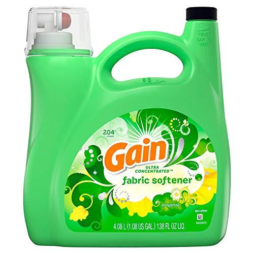 (Gain Ultra Concentrated Liquid Fabric Softener, Original (138 fl oz, 204 loads))