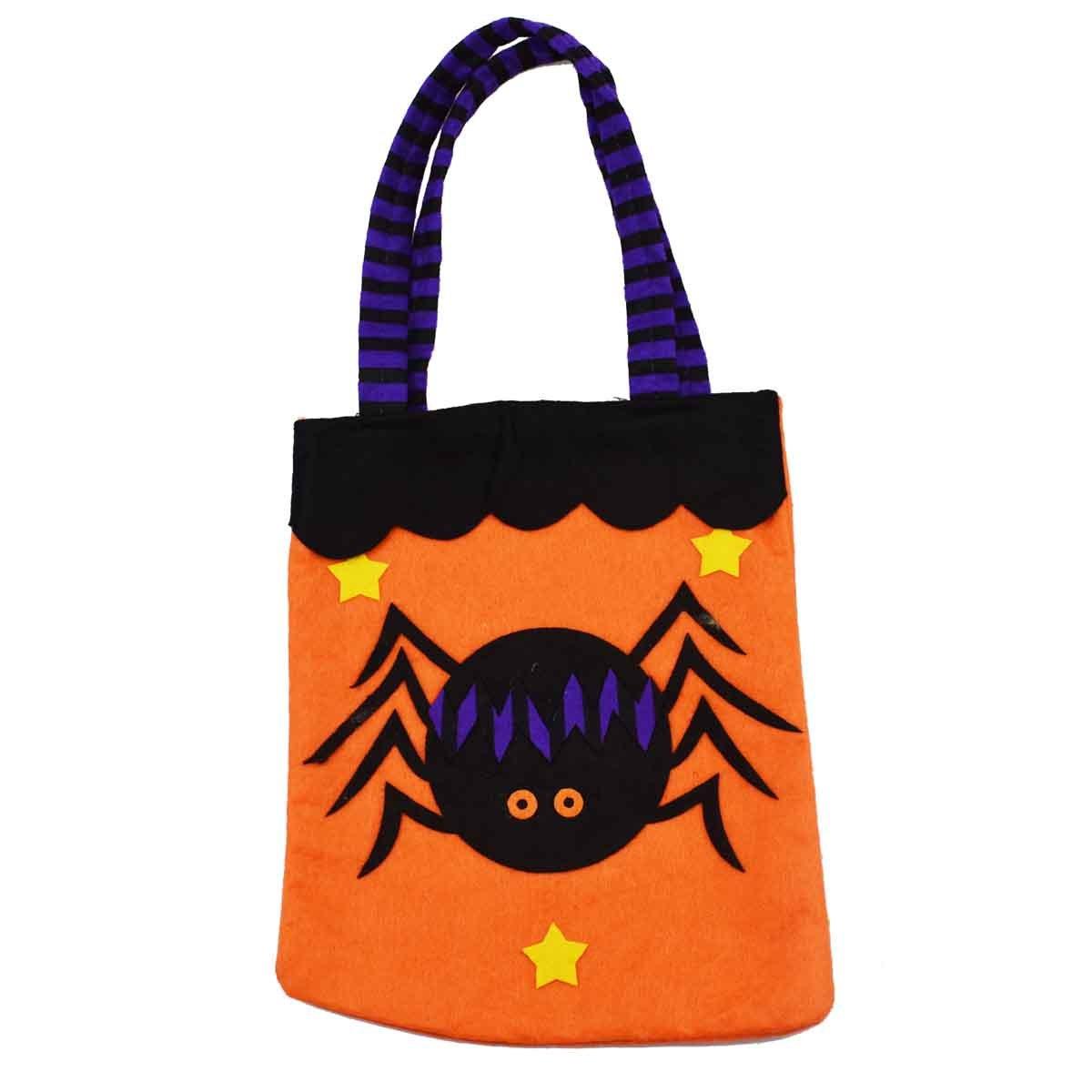 XONOR 3 St/ück Halloween-Tragetaschen Wiederverwendbare Lebensmittelgesch/äft-S/ü/ßigkeit-K/ürbis-Taschen-Taschen f/ür Partei-Bevorzugungs-Dekoration Large 39cm
