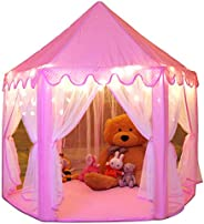 Monobeach Princess Tent Girls Large Playhouse Kids Castle Play Tent with Star Lights Toy for Children Indoor and Outdoor Gam